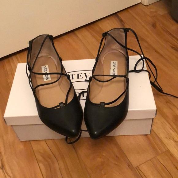 Steve Madden Shoes - Steve Madden Lace Up Flats